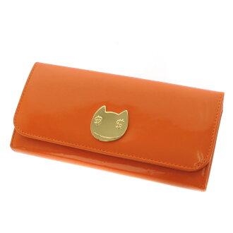 TSUMORI CHISATO cat silhouette metal wallets ( purses and ) enamel ladies