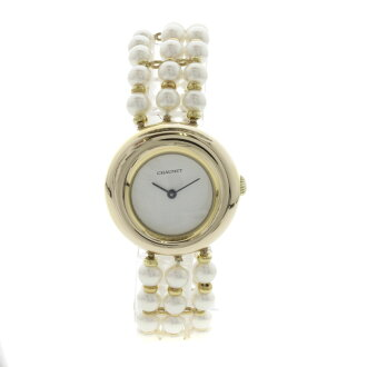 Chaumet pearl watch K18YG Lady's fs3gm