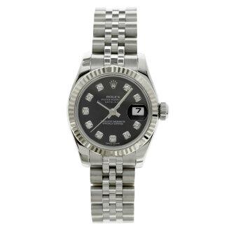 ROLEX179174G Datejust 10 P diamond watch K18WG/SS ladies