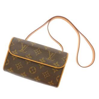 Women's shoulder bag Monogram Canvas, LOUIS VUITTON pochettfloranti m56855