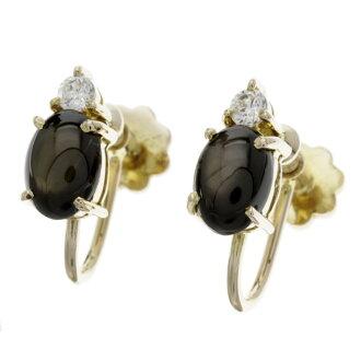 SELECT JEWELRY black sapphire earrings Lady's fs3gm