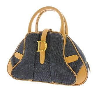 Boston type slim w/CHRISTIAN DIOR handbag denim Womens