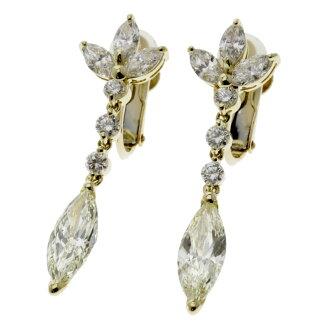 SELECT JEWELRY diamond earrings K18 yellow gold Lady's fs3gm