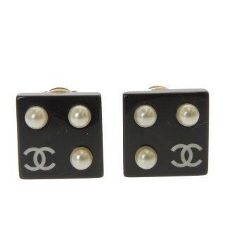 CHANEL dice earrings Lady's