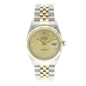 ROLEX Oyster Perpetual Datejust 16233 G OH and outstanding watch K18YG/SS mens