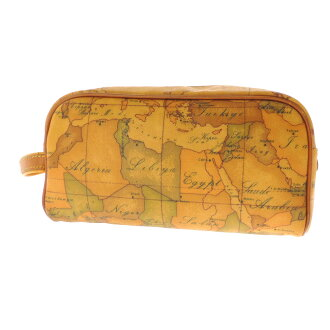 PRIMA CLASSE map pattern second bag leather men