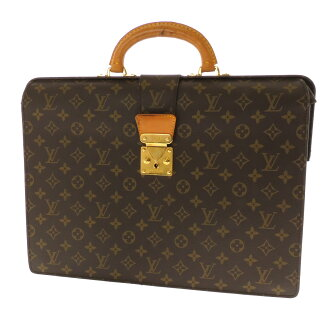 LOUIS VUITTON セルヴィエットフェルモワール M53305 business bag monogram canvas men
