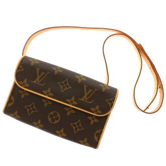 Women's shoulder bag Monogram Canvas, LOUIS VUITTON pochettfloranti M51855