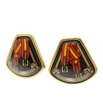 HERMES belt motif earrings women's
