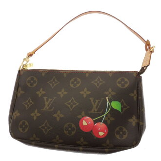 LOUIS VUITTON ポシェットアクセソワール M51980 accessory pouch cherry Monogram Canvas ladies fs3gm
