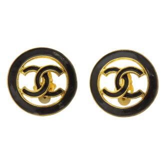 CHANEL here mark earrings metal Lady's
