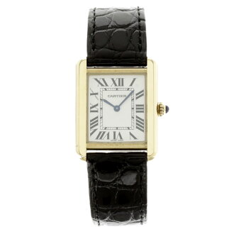 CARTIER tank solo SM watch stainless /K18YG ladies
