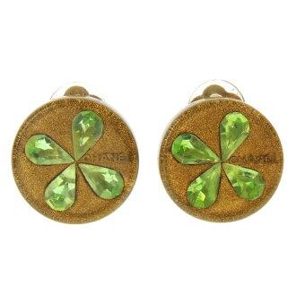 Ladies CHANEL clover logo earrings made of metal '