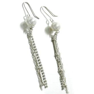 Women's Pearl Earrings silver