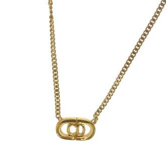 CHRISTIAN DIOR motif necklace metal-women's