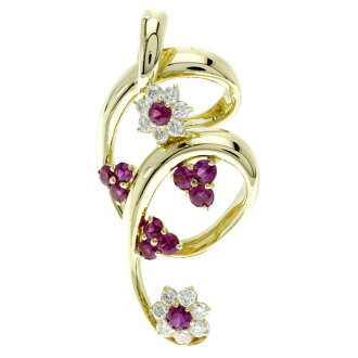 SELECT JEWELRY ruby / diamond pendant K18 gold Lady's fs3gm