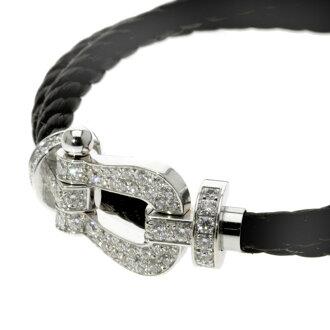 10 FRED force full diamond double cord bracelet K18 white gold men upup7