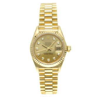 ROLEX Oyster Perpetual Day-Date Watch 69178 G watch K18YG ladies