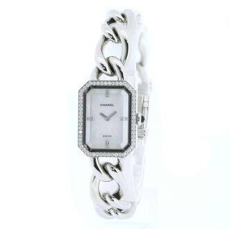 Authentic CHANEL Premiere Diamond Watch stainless steel  Quartz Ladies
