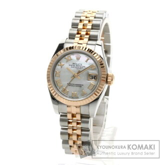 Authentic ROLEX Oyster Perpetual Datejust 179171NR Watch stainless steel 18K Pink Gold Self-winding Ladies
