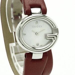 GUCCI【グッチ】YA134.53PD腕時計ステンレススチール/革レディース【】