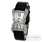 CARTIER【カルティエ】WJ306014タンクアンラセリブレダイヤモンド腕時計K18ホワイトゴールド/サテンレディース【中古】
