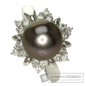 POLA【ポーラ】真珠/ダイヤモンドピーコックリング・指輪プラチナPT900レディース【】
