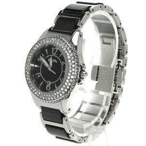 FolliFollie【フォリフォリ】WF6A067BD腕時計ステンレス/セラミックレディース【中古】
