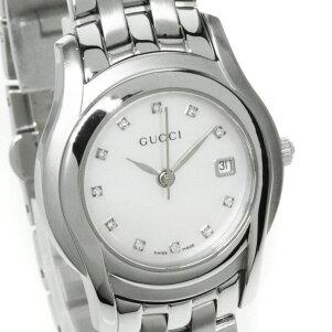 GUCCI【グッチ】5500L11Pダイヤモンド腕時計ステンレスレディース【】