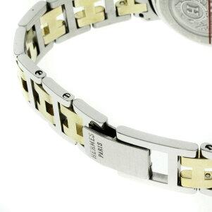 HERMES【エルメス】CL3.240クリッパー腕時計GP/SSレディース【】