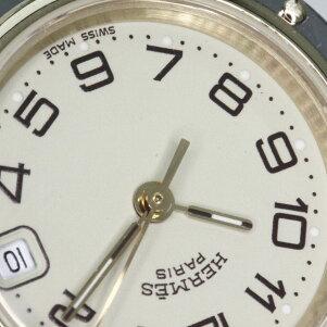 HERMES【エルメス】CL4.220クリッパー腕時計ステンレスレディース【】