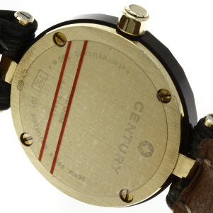 CENTURY【センチュリー】プライムタイム1Pダイヤモンド腕時計K18イエローゴールド/リザードレディース【】