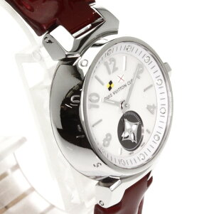 LOUISVUITTON【ルイ・ヴィトン】Q12MOタンブールラブリーカップ腕時計ステンレス/革レディース【】