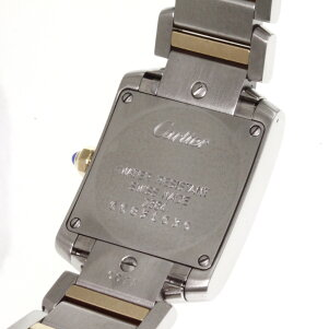 CARTIER【カルティエ】タンクフランセーズSM腕時計OH済ステンレス/SSxK18PGレディース【】