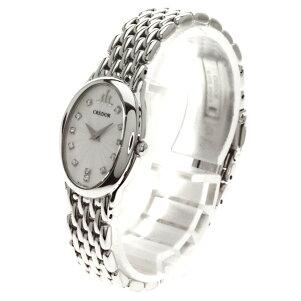 SEIKO【セイコー】1E70-0BD0クレドールジグノ12Pダイヤモンド腕時計ステンレス/SSレディース【】