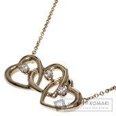 TIFFANY&Co.【ティファニー】 トリプルハート ダイヤモンド ネックレス K18イエローゴールド レディース 【中古】