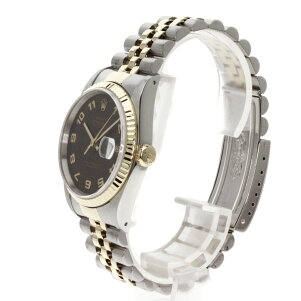 ROLEX【ロレックス】16233デイトジャストアラビア数字腕時計ステンレス/SSxK18YGメンズ【】