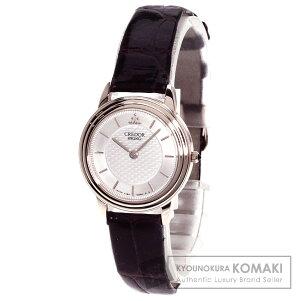 SEIKO【セイコー】4J80-0060クレドール腕時計K18イエローゴールド/クロコダイルレディース【】