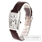 CARTIER【カルティエ】 タンクアメリカンSM 腕時計 K18ホワイトゴールド/アリゲーター レディース 【中古】