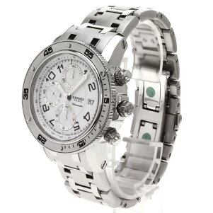 HERMES【エルメス】CP2.910クリッパーダイバークロノグラフ腕時計ステンレスメンズ【】
