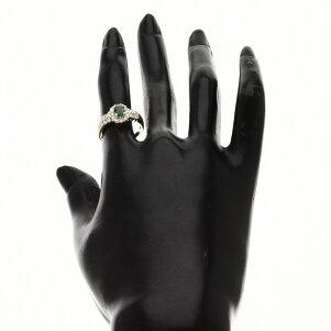 エメラルド/ダイヤモンドリング・指輪K18イエローゴールド4.1gレディース【】
