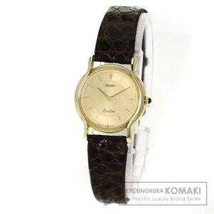 SEIKOエクセリーヌ腕時計K18イエローゴールド/アリゲーターレディース【】【セイコー】