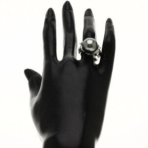 0.06ctパール/ダイヤモンドリング・指輪K18ホワイトゴールド10gレディース【】