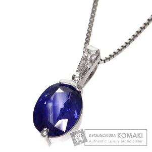 1.572ct サファイア/ダイヤモンド ネックレス プラチナPT850/Pt900 4g レディース 【】