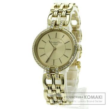 CHRISTIAN DIOR D94-160 バキラ ダイヤモンド 腕時計 K18イエローゴールド レディース 【中古】【クリスチャンディオール】