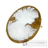 cameo Brooch K18Yellow Gold 10.4g Women Second hand