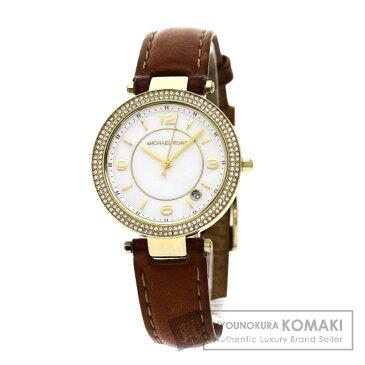 Michael Kors MK2464 腕時計 GP/革 ボーイズ 【中古】【マイケルコース】