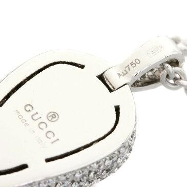 GUCCI フローラルスカル/サファイヤ/ダイヤモンド ネックレス K18ホワイトゴールド レディース 【中古】【グッチ】