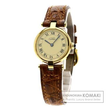 CARTIER ヴェルメイユ 腕時計 シルバー/革 レディース 【中古】【カルティエ】