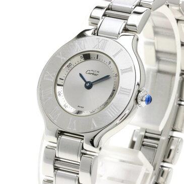 カルティエ マスト21 SM 腕時計 ステンレススチール/SS レディース 【中古】【CARTIER】